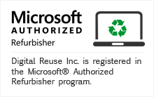 Microsoft® AUTHORIZED Refurbisher Degital Reuse inc. are participating in the Microsoft® Authorized Refurbisher program.